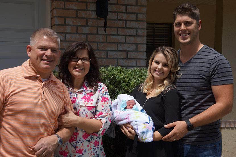 Gil and Kelly Jo Bates with John, Alyssa and Zoey Joy Webster.