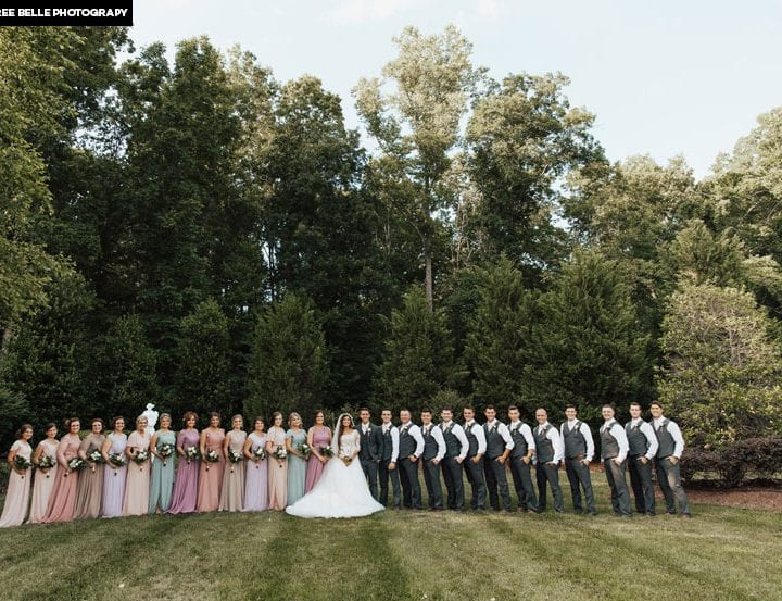 Carlin Bates and Evan Stewart wedding
